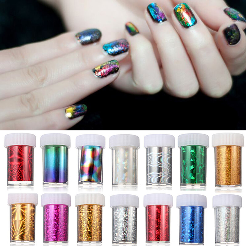 12 Meter Acrylic Multicolor Nail Art Transfer Foil Strip Decoration