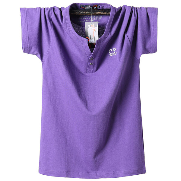 Large Size L-6XL Pure Color Fashion T-shirt Mens Fat Guy Casual Short Sleeve Tees