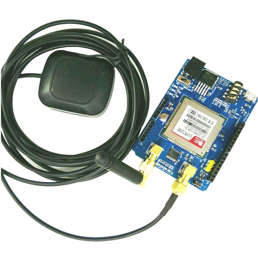 3G SIM5320E GSM/GPRS 850/900/1800/1900MHz/ WCDMA/900/2100MHZ HSDPA SMS With  3M Active Antenna Shield For Arduino Expansion Board