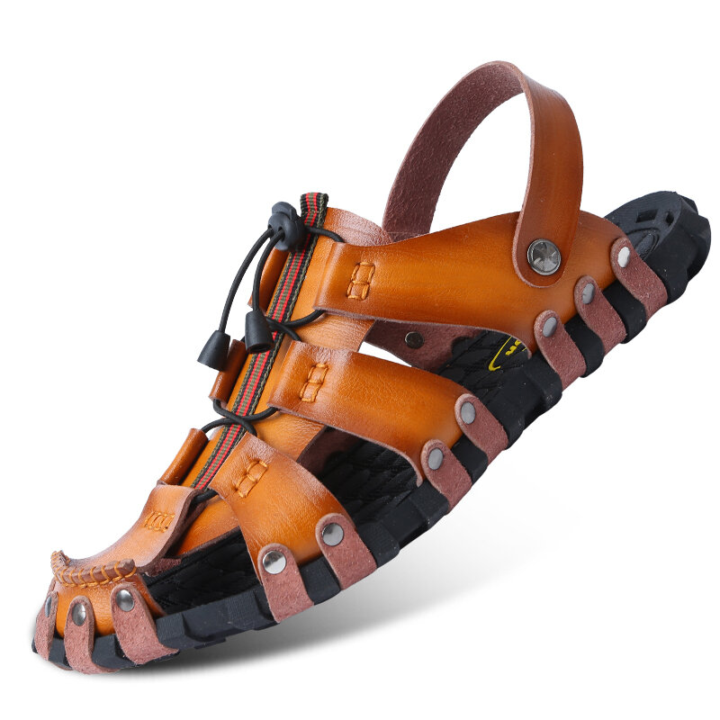 5d85ad49cab6 Men Beach Shoes Breathable Sandals Cooler Summer Rubber Soft Male Slippers  COD