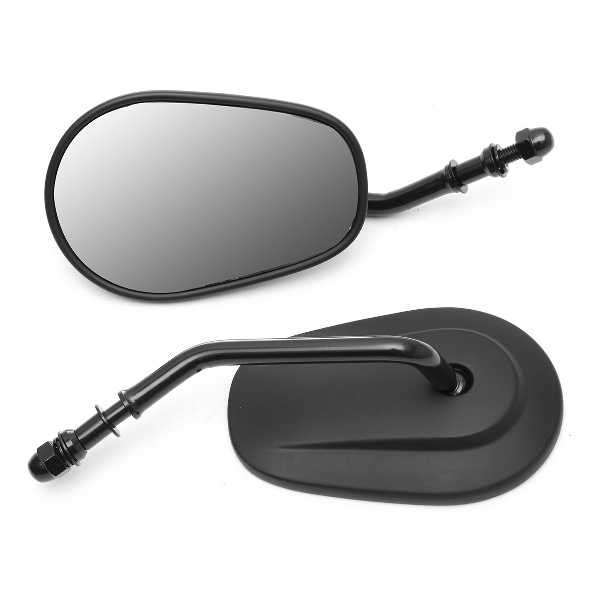8mm Rear View Side Mirror Fits For Harley Davidson Sportster Touring XL 883