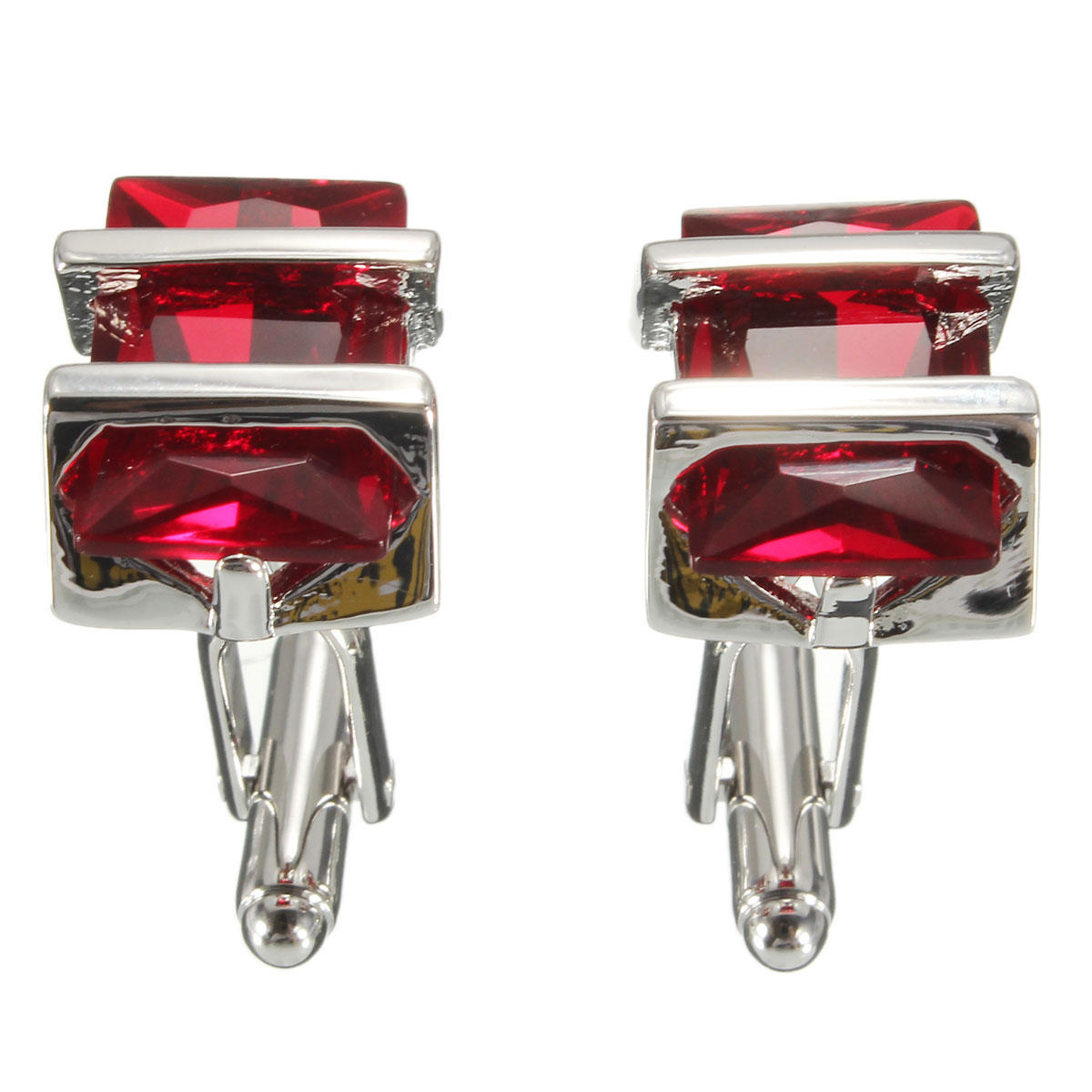Ruby Wedding Gifts For Men: Benryhome.com : Men Male Rectangle Ruby Crystal Cuff Links