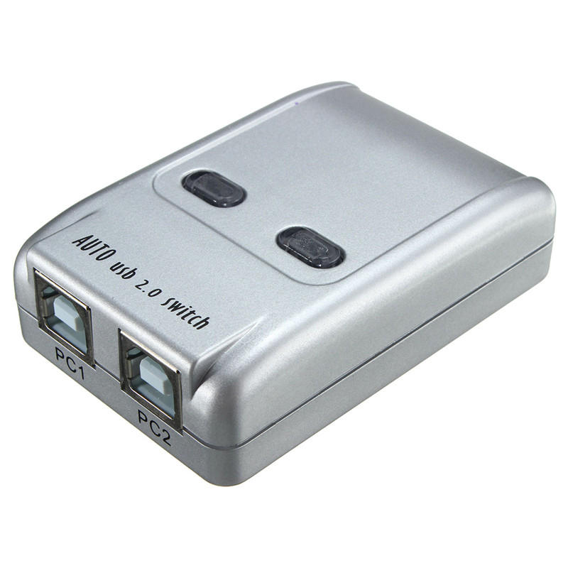 2 Port Usb 20 Auto Printer Sharing Switch HUB Selector Switcher For Scanner HM