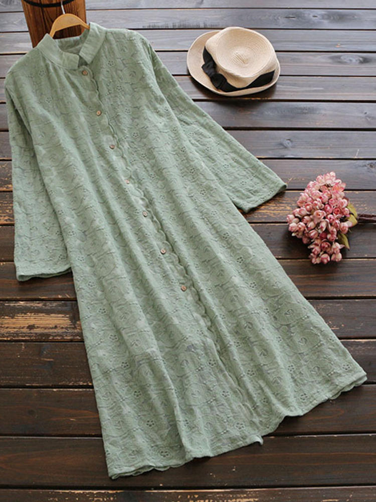 Plus Storlek Elegant Women Lace Mid Long Dress