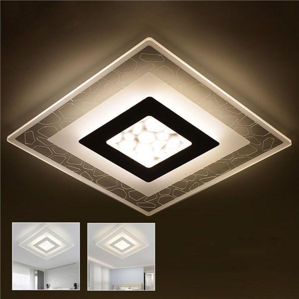 28W Moderne Einfache Quadratische Acryl LED Deckenleuchten Wohnzimmer Schlafzimmer Home Lampe AC220V