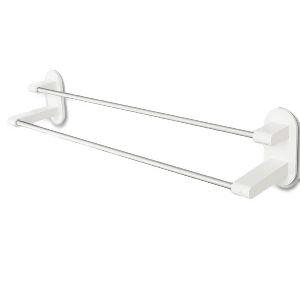 Xiaomi Happy Life 8h Towel Rack Holder White Tape Double Rod Storage