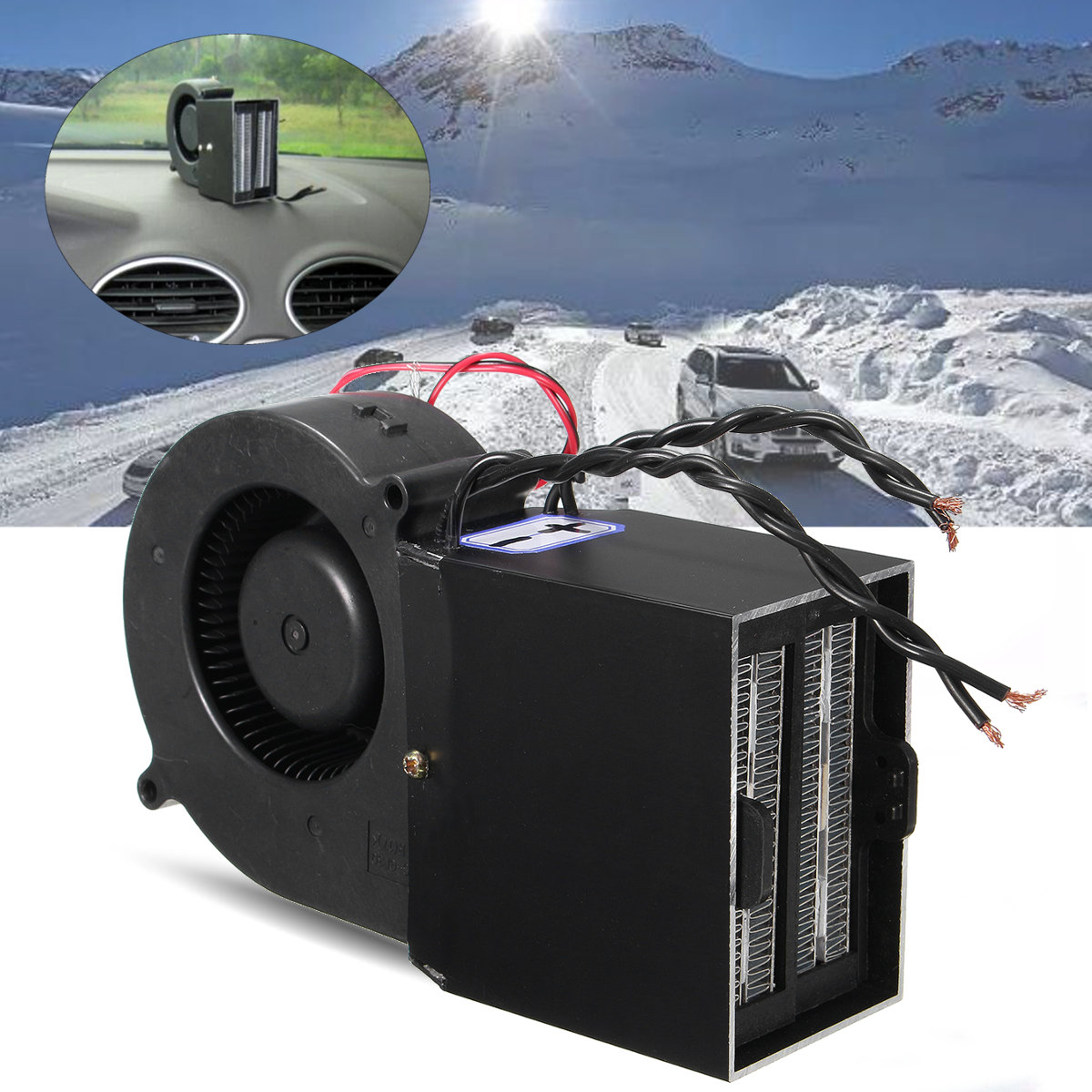 300w Car Portable Ceramic Heating Cooling Heater Fan Defroster Demister Dc 12v 12-volt Portable Appliances