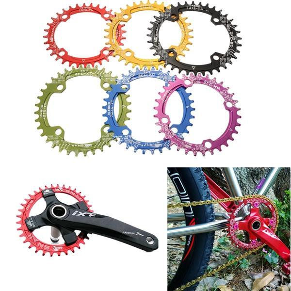 จักรยานจักรยานขนาด 104 มม. วงแหวนรอบวงกลมวงรีกว้าง 36T