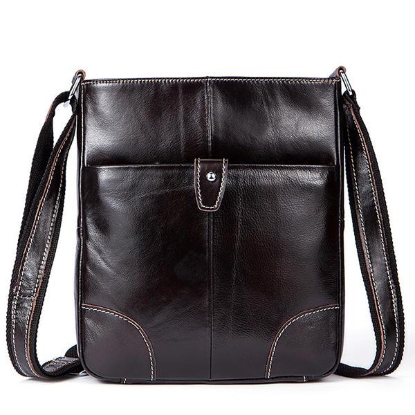 الرجال جلد طبيعي الأعمال رسول حقيبة البقر عالية الجودة كروسبودي الكتف حقيبة