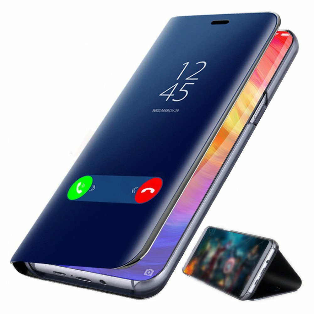 Bakeey™ Plating Mirror Window Shockproof Flip Full Cover Protective Case for Xiaomi Redmi Note 7 / Note 7 Pro