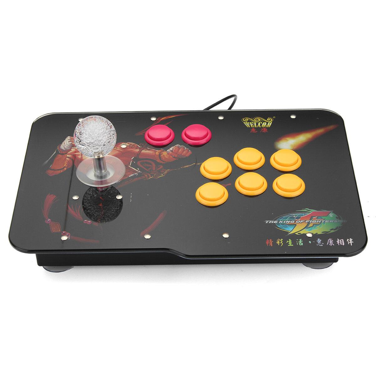 arcade stick video game led light usb joystick controller ...
