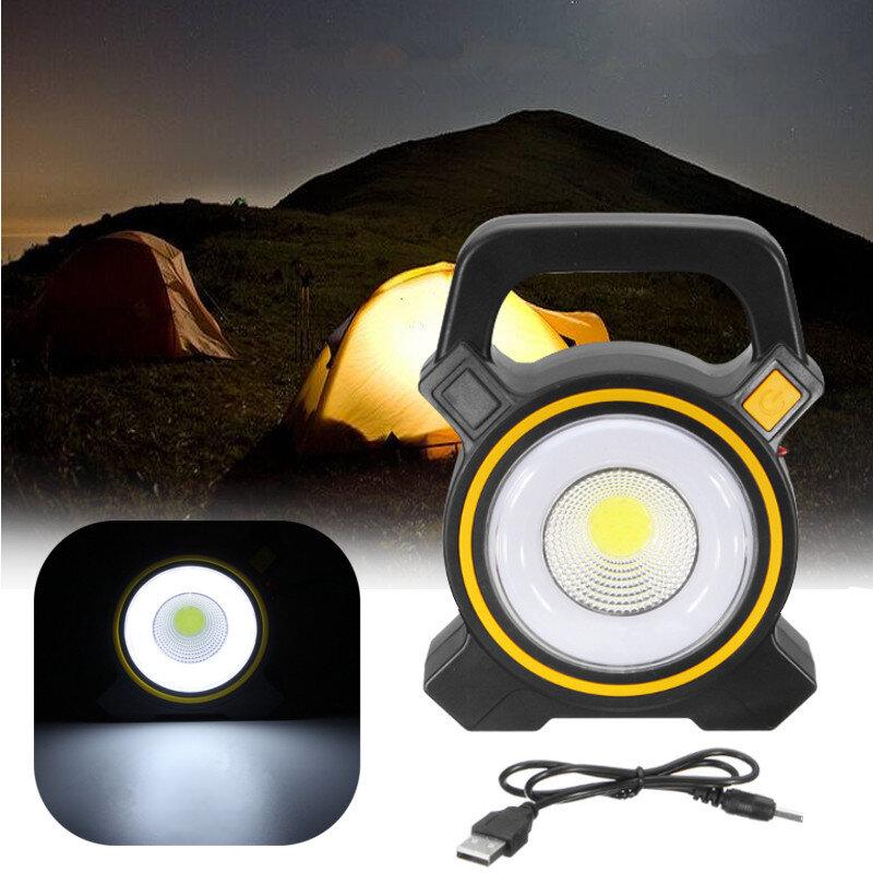 30W USB Rechargeable Solar COB LED Portable Flood Light Outdoor Garden Lantern Work Spot Lamp