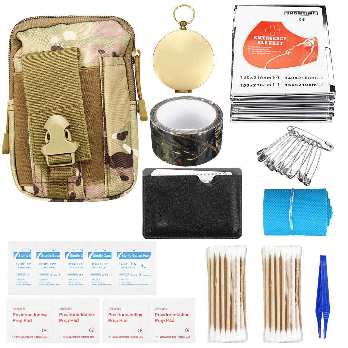 Portable Survival Kit Self-help Sos Equipment Edc For Car First Aid Bag Camping Outdoor Emergency Bag Travel & Roadway Product