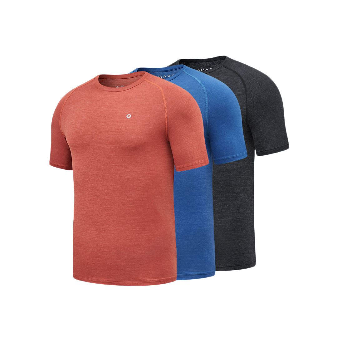 df92deabe3 Xiaomi AMAZFIT Sports Quick Drying Man T-Shirts Ultra-thin Durable  Breathable Smooth Cool Running T-Shirts - L Red