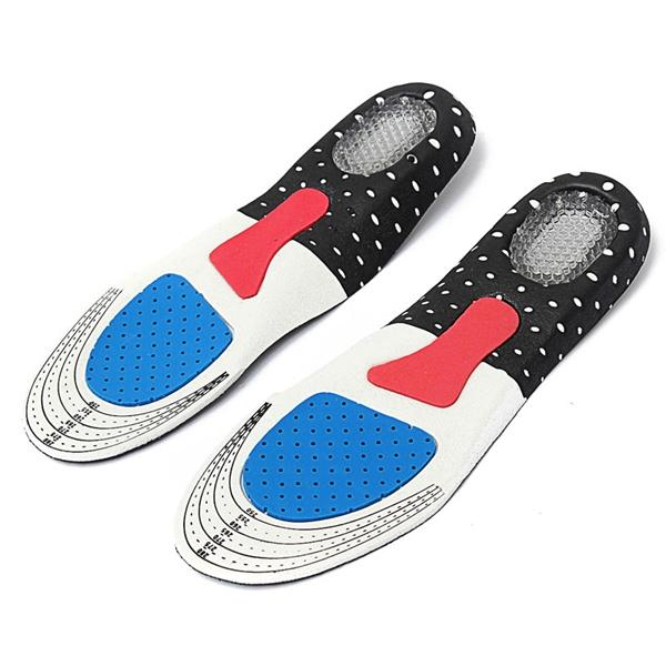 1 Pair Free Size Unisex Gel Orthotic Sport Shoe Insole Pad Arch Support  Insoles Insert Cushion