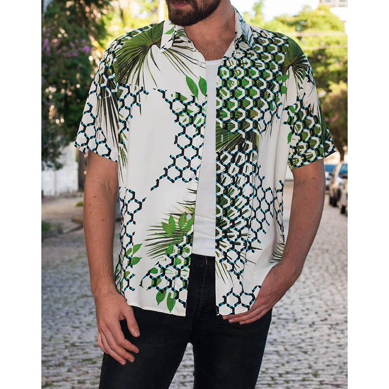 0958aeaf Mens Summer Hawaiian Shirts Short Sleeve Casual Fashion Printing Shirts COD