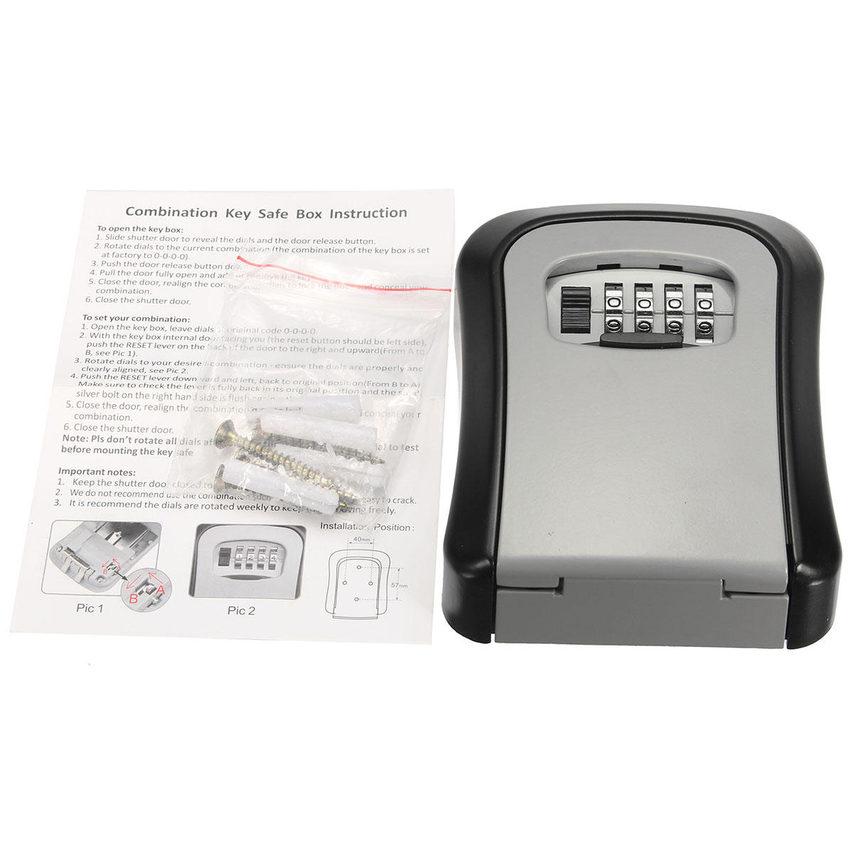 Safe Security Outdoor Storage Key Hide Box Wall Mounted Combination Lock Using Pic16f84 600x600