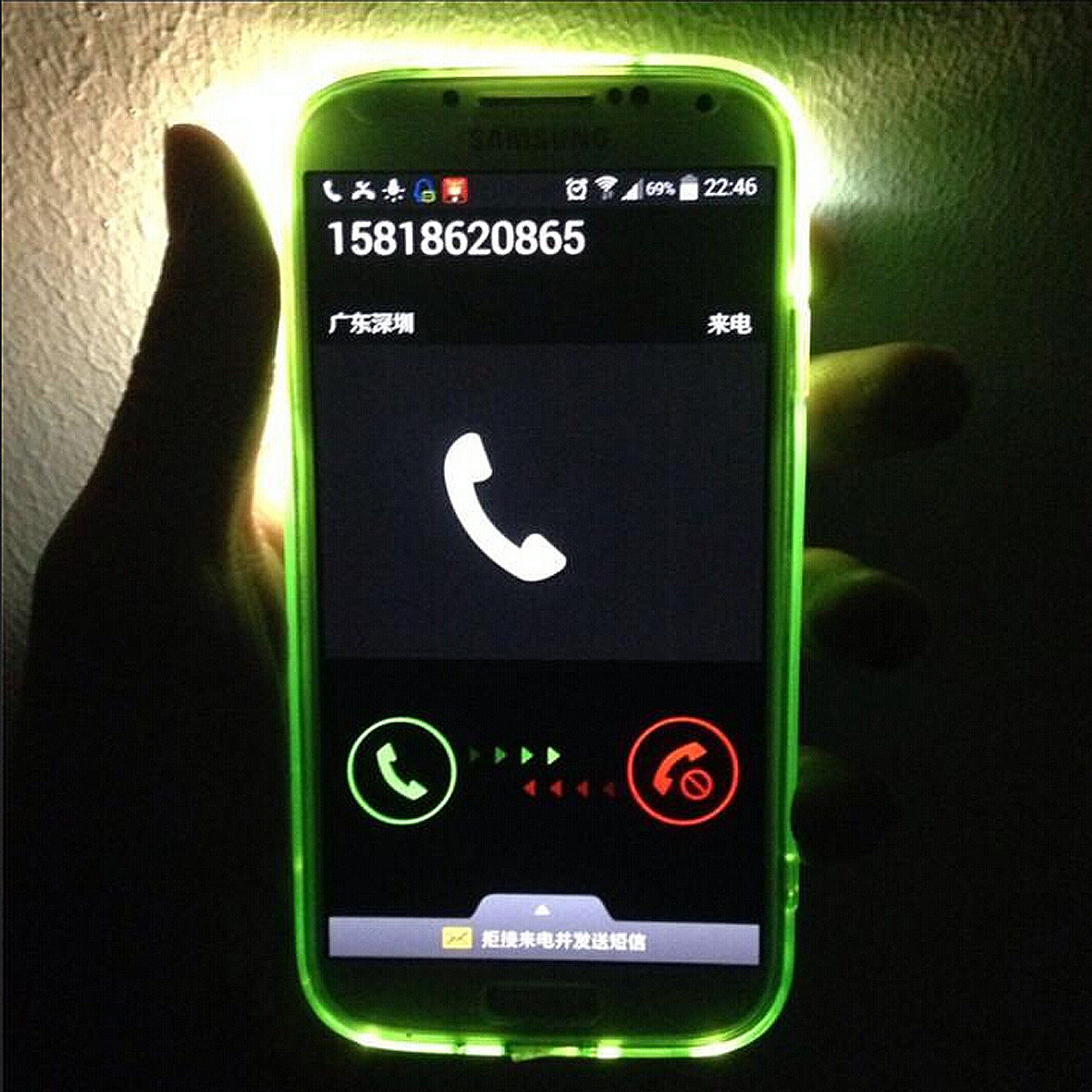 online store 4a2db b2ab9 Incoming Call LED Flash Light Alerts Case Cover For Samsung Galaxy S5 I9600