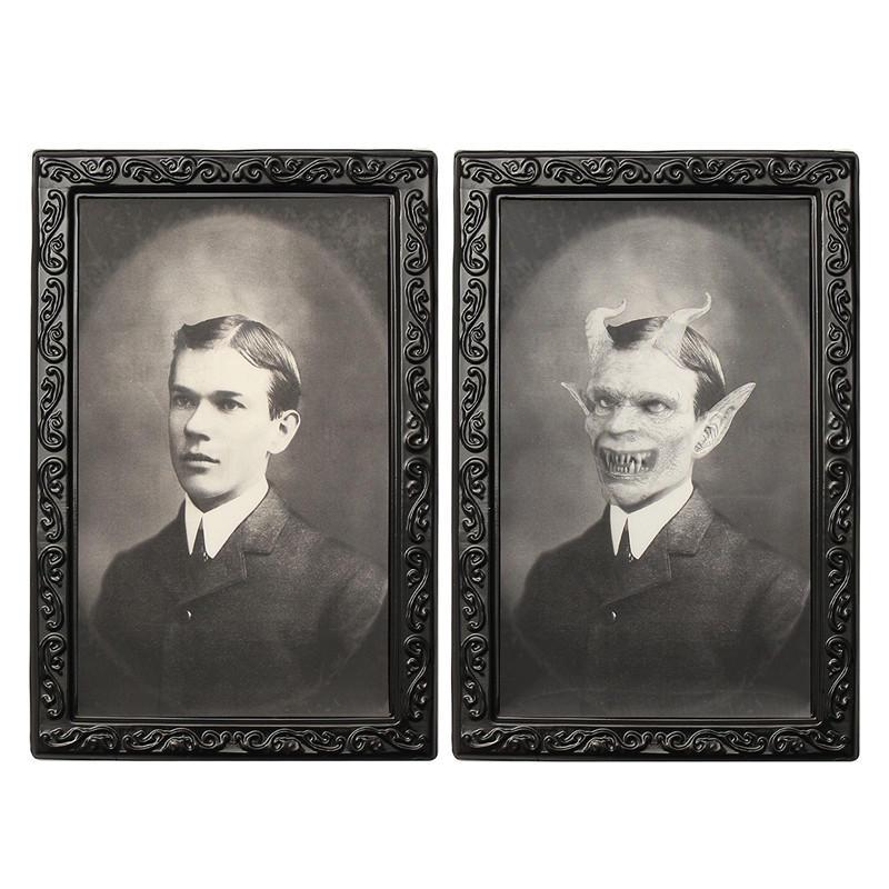 ハロウィーンのレンチキュラー3Dの顔を変える悪魔の紳士ホラーの肖像画の幽霊のかわいい装飾