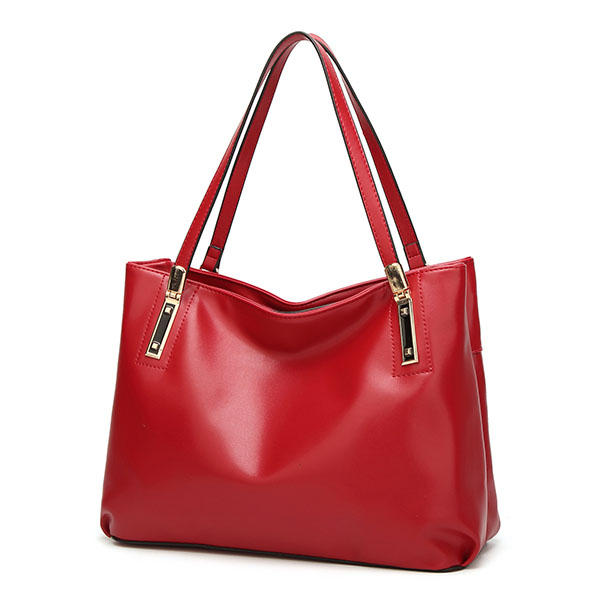 Women Sofe PU Leather Tote Handbags Vintage Shoulder Bags Capacity Shopping Bags