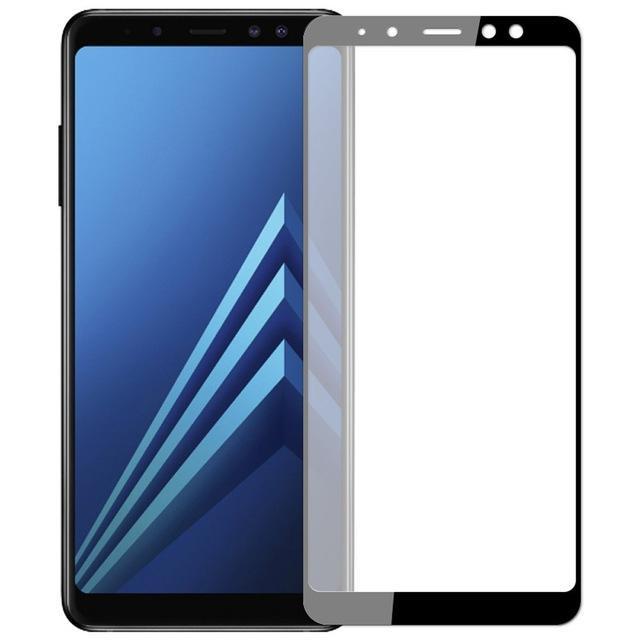 Samsung Galaxy A8 Plus 2018 için Soft Kavisli Kenar Temperli Cam Telefon Ekran Koruyucu