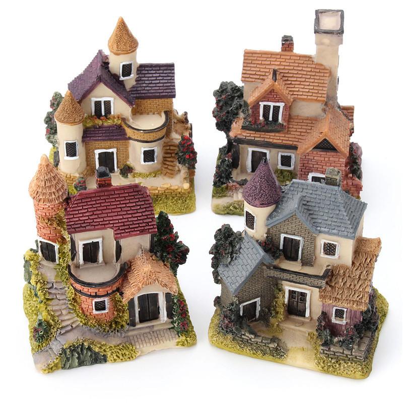 인형 집 미니어처 키트 정원 인형 집 마이크로 프리 DIY 미니 성 모형 장난감 집 장식 선물