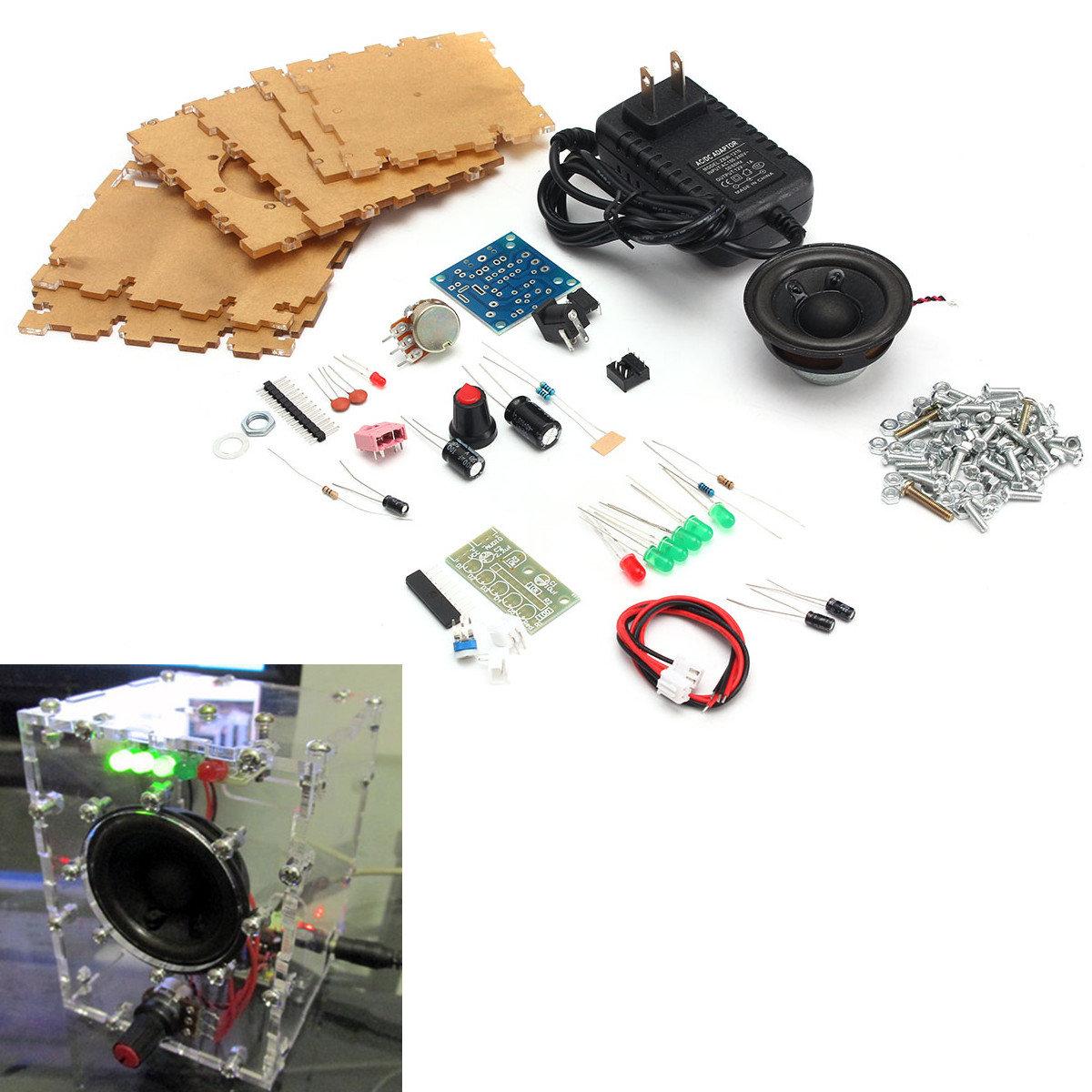 Diy Lm386 Amplifier Speaker Kit With Clear Box Transparent Case Sale Intercom Circuit Using Ic Diagram