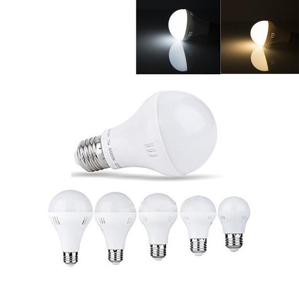 E27  3W  5W  7W  9W  12W 暖かい白 純粋な白 LEDグローバル電球 AC220V