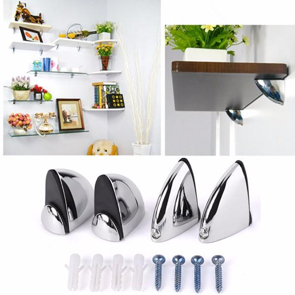 polished chrome glass shelf support clamp brackets bathroom for rh banggood com metal support for shelves wood support for shelves