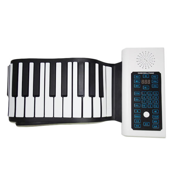 BR-A-88 Keys Oplaadbare Keyboard Roll Up Piano Met Microfoon Luidspreker voor Beginner