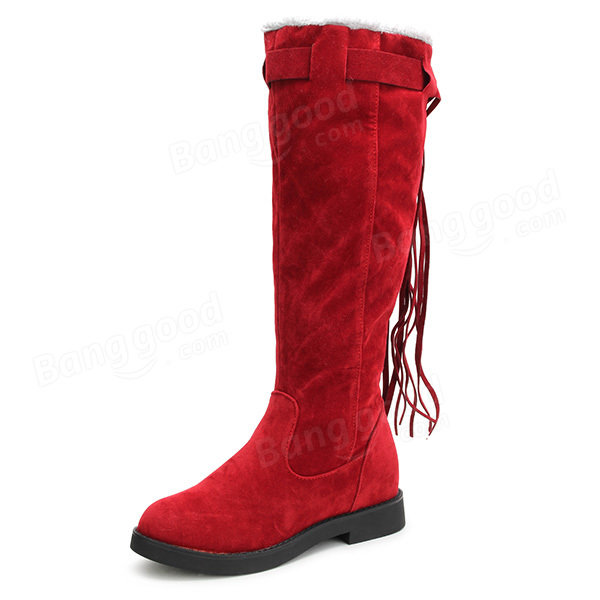 272d5336ad22 winter ladies warm over-the-knee boots tassels round toe snow boots warm  snow boots at Banggood sold out