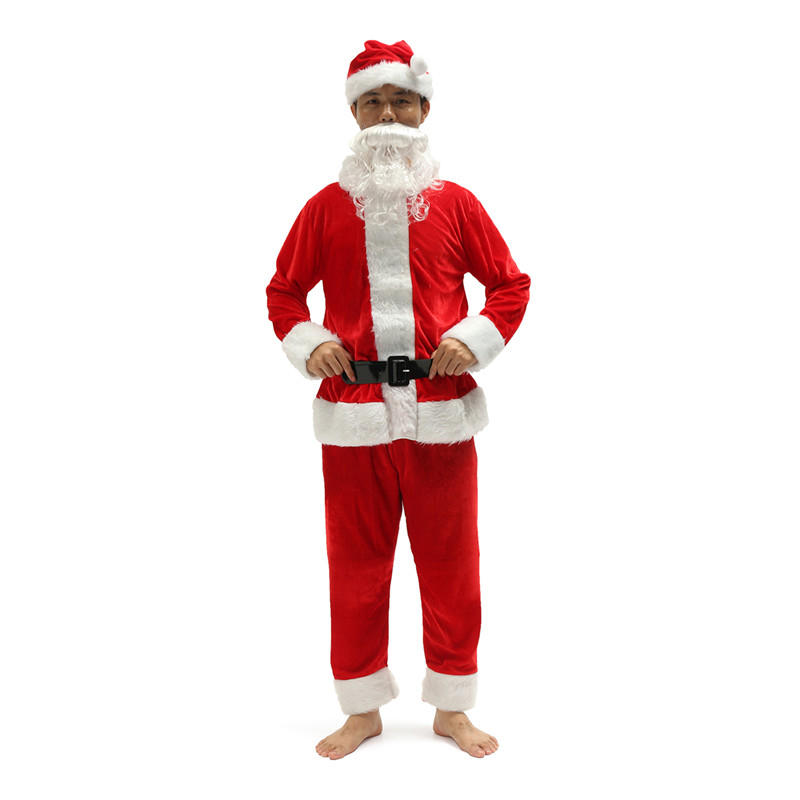 Santa Claus Men Red Costume Christmas Suit Red Size Cosplay