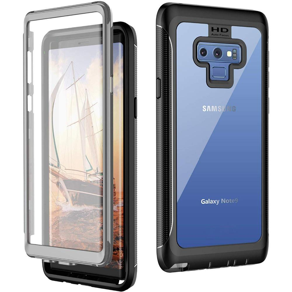 Bakeey Built-in Curved Screen Protector Full Body Protective Case For Samsung Galaxy Note 9 Dirtproof Snowproof Shockproof COD