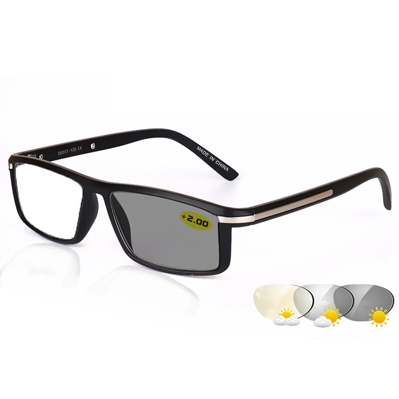 85a2c9ae0bd3 Men Women Light Sensitive Photo-Induced Lens Discoloration Reading Glasses  For Indoor And Outdoor COD