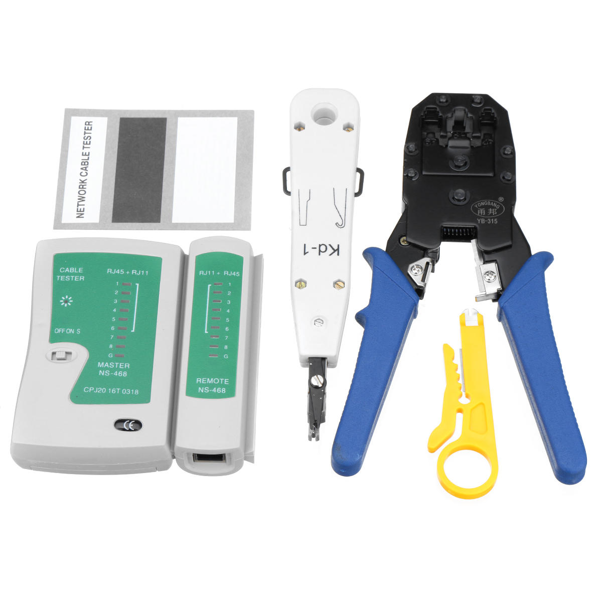 Network Ethernet Lan Rj11 Rj45 Cat5 Cat6 Cable Tester Wire Tracker Wiring Correctly Tool Kit