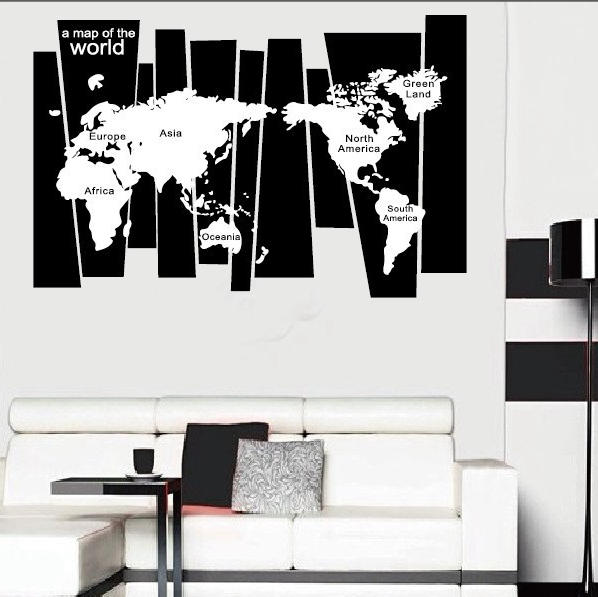 75 105 Cm Black Travel World Map Poster Sticker At Banggood Sold Out