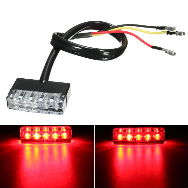 12v Universal Led Motorcycle Quads Maltese Cross Tail Brake Lamp Rear Red Light Wide Selection; Electric Vehicle Parts Automobiles & Motorcycles