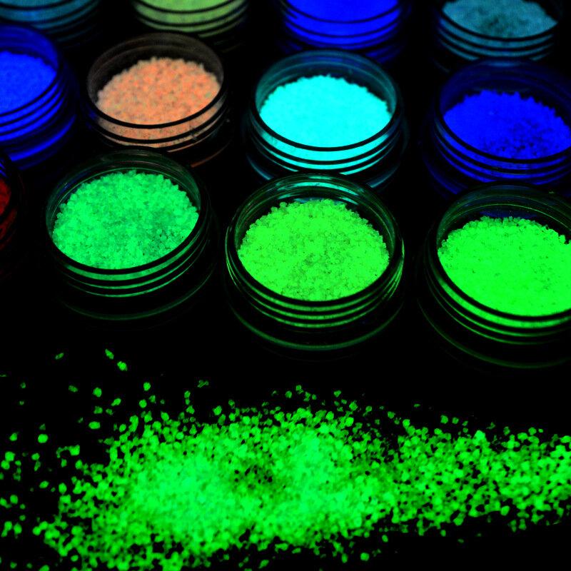 1 bottiglia Dancingnail Luminoso Unghie Polvere Halloween Fluorescente Glow Decorazione Dust Colorful Manic