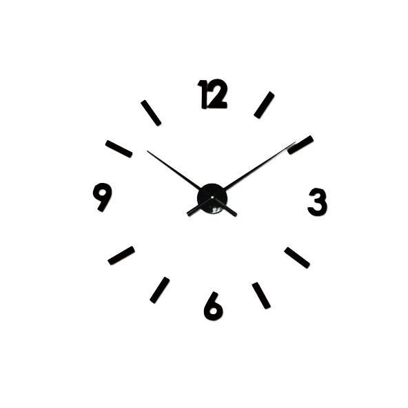 DIY 3D pared Reloj moderno grande decoración para el hogar etiqueta sin marco espejo negro para oficina sala de estar dormitorio barra de cocina gran número Reloj