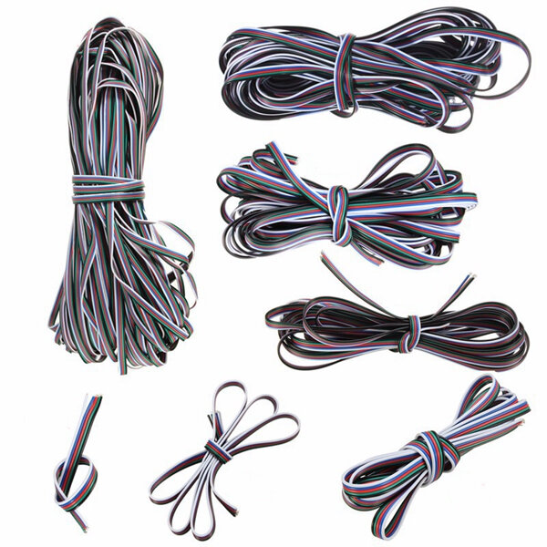1M-50M 5 Pin Extension Cable Line Cord Wire For 3528/5050 RGBW LED Strip Light