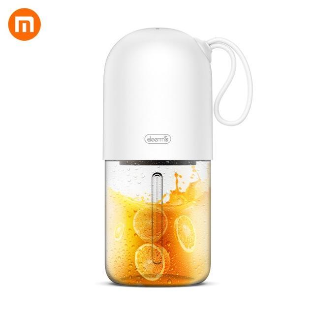 Deerma DEM-NU01 Portátil Mini Exprimidor de frutas Cocina Mezclador eléctrico Mini Cápsula Forma Potente taza de jugo eléctrica desde XIAOMI Youpin