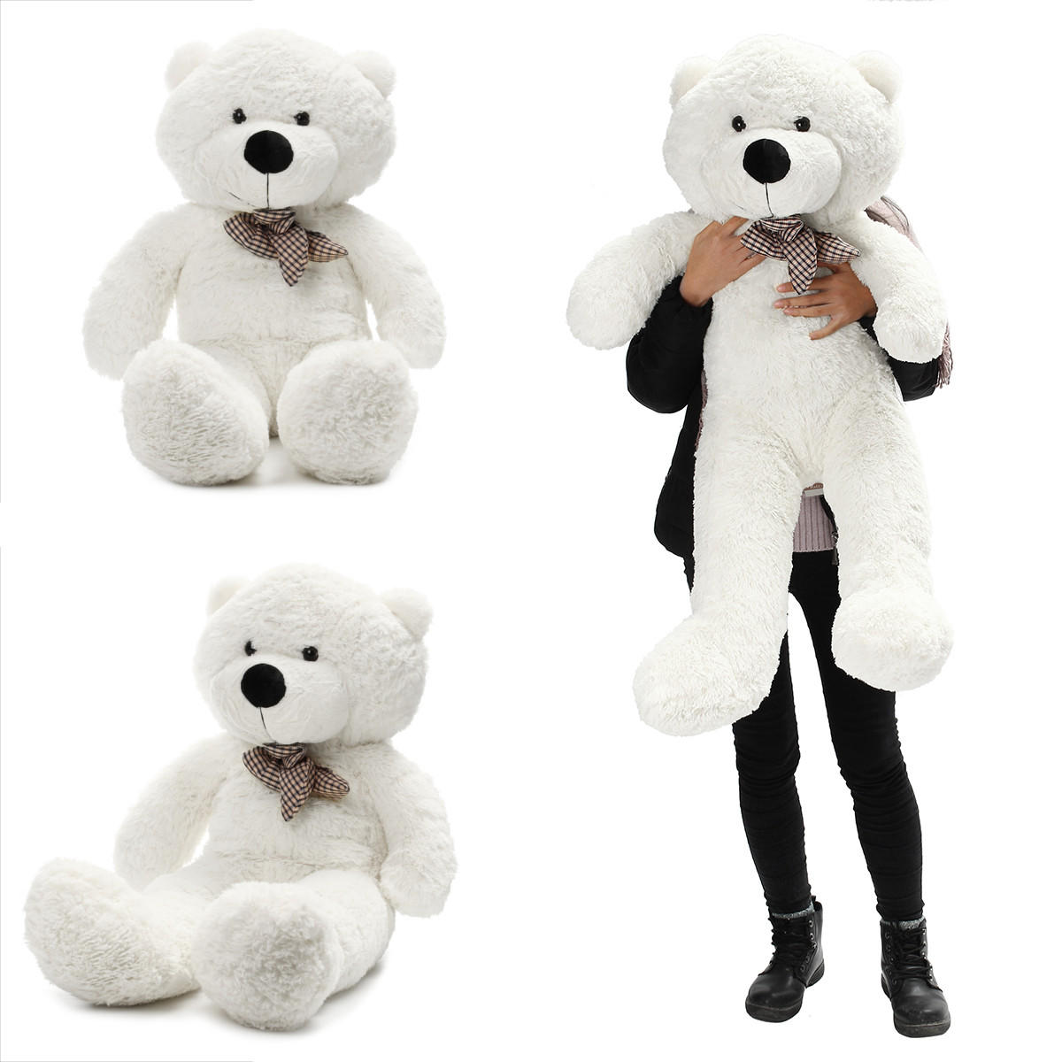 "140cm/55"" Inch Semi-Finished Giant Big Unstuffed Teddy Bear Skin Shell Skins Kid Baby Plush Toys"
