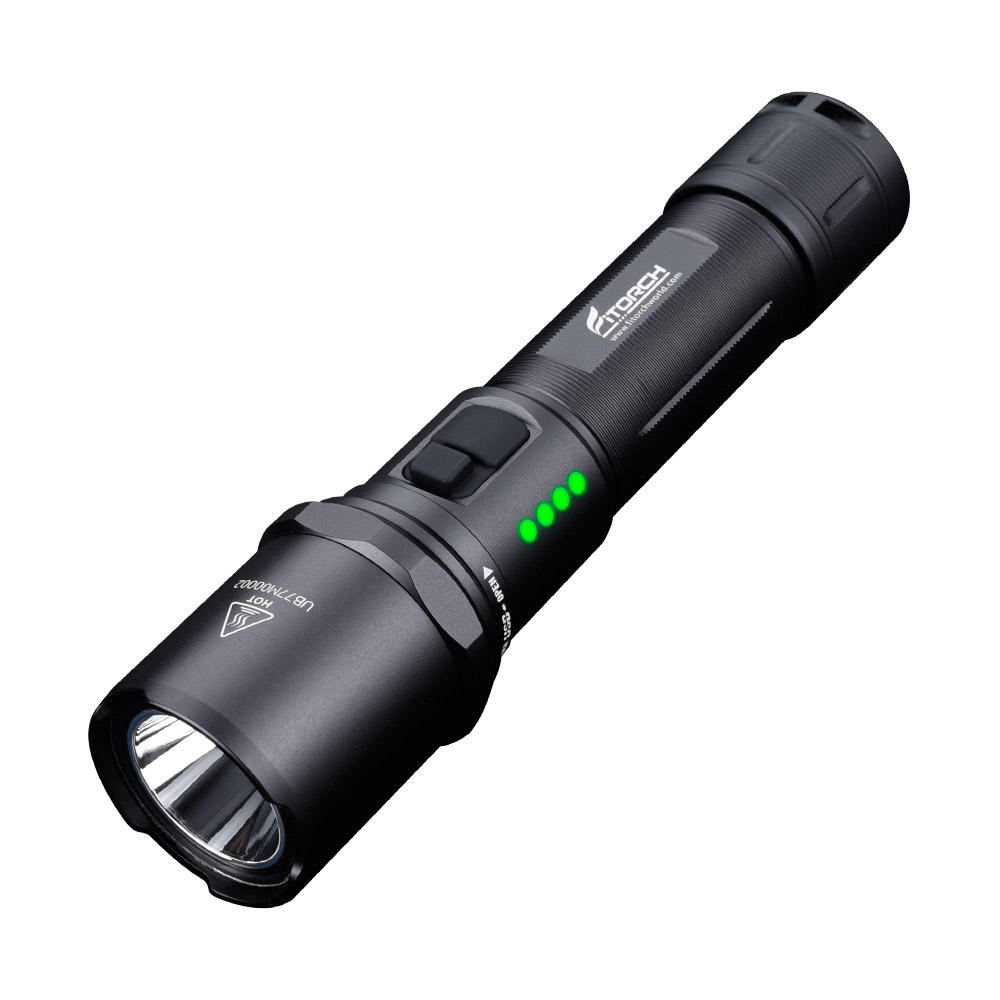 Fitorch MR15 XP-L HD 1200LM 5Modes Dual Switch USB Rechargeable Power Indicator LED Flashlight