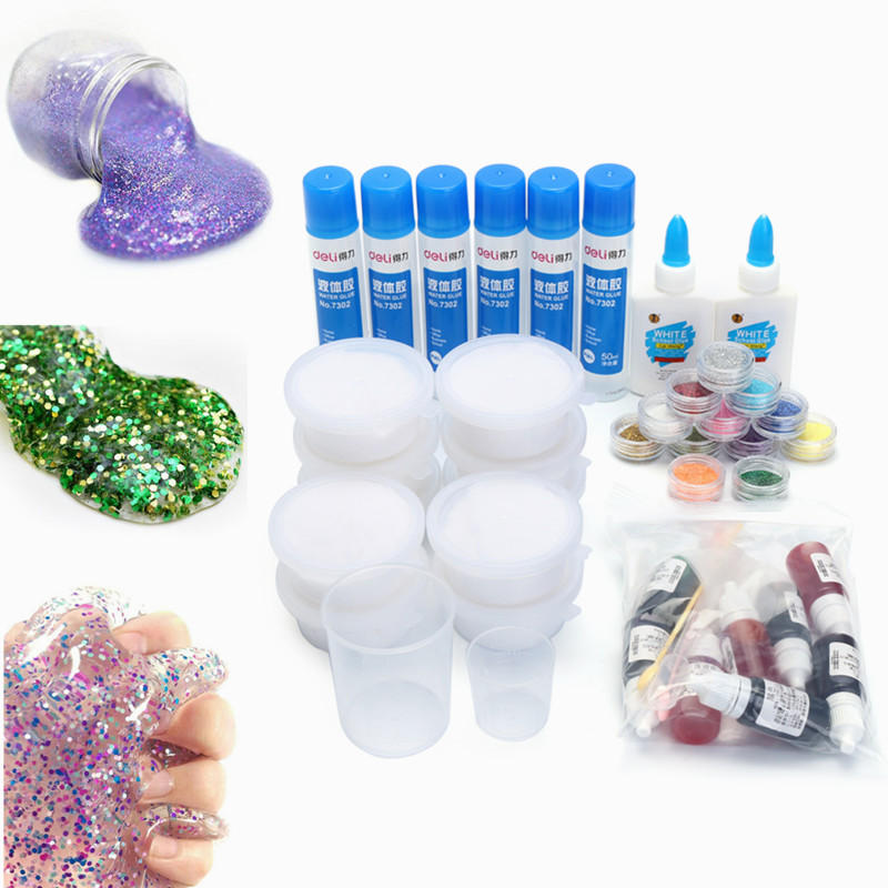 Bricolage Slime Kit Coloré Crystal Clay Snow Gelée à La Boue Magic