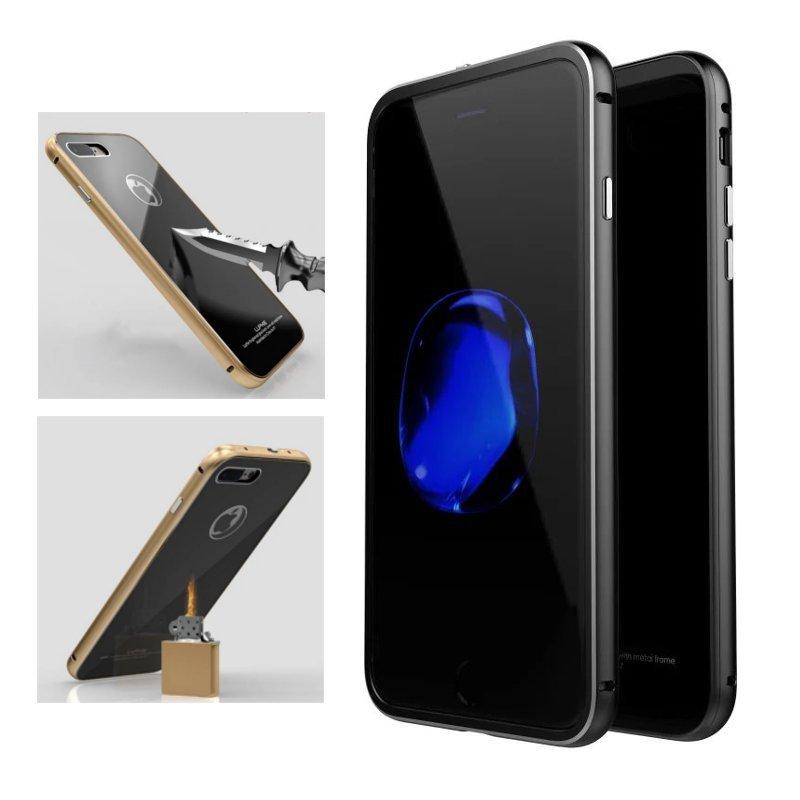 Luphie Metal Bumper + 9H Custodia in vetro temperato per iPhone 7/7 Plus e 8/8 Plus