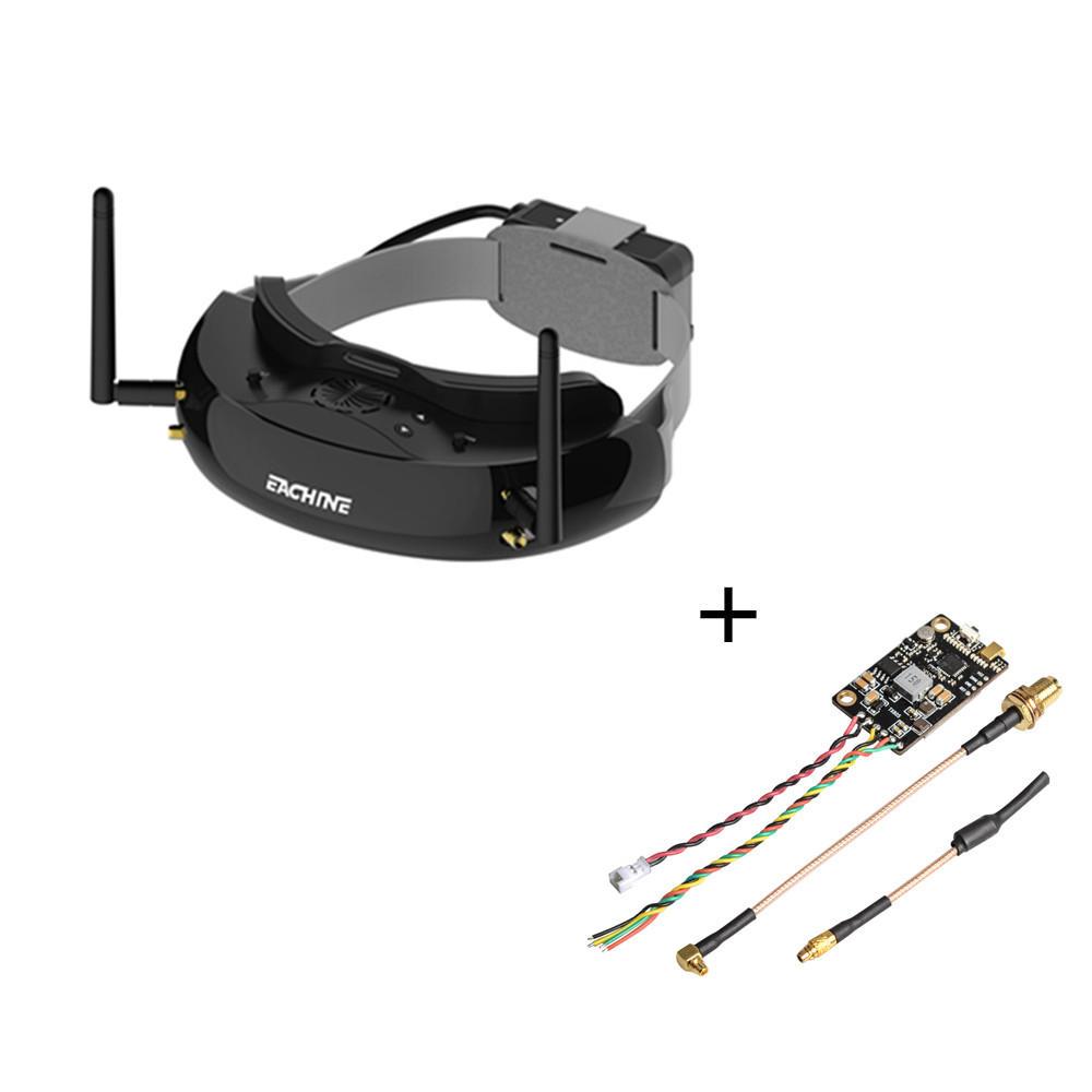 Eachine EV200D 1280*720 5.8G 72CH True Diversity FPV Goggles+Eachine TX805 5.8G 40CH 25/200/600/800mW FPV Transmitter TX LED Display RP-SMA Female