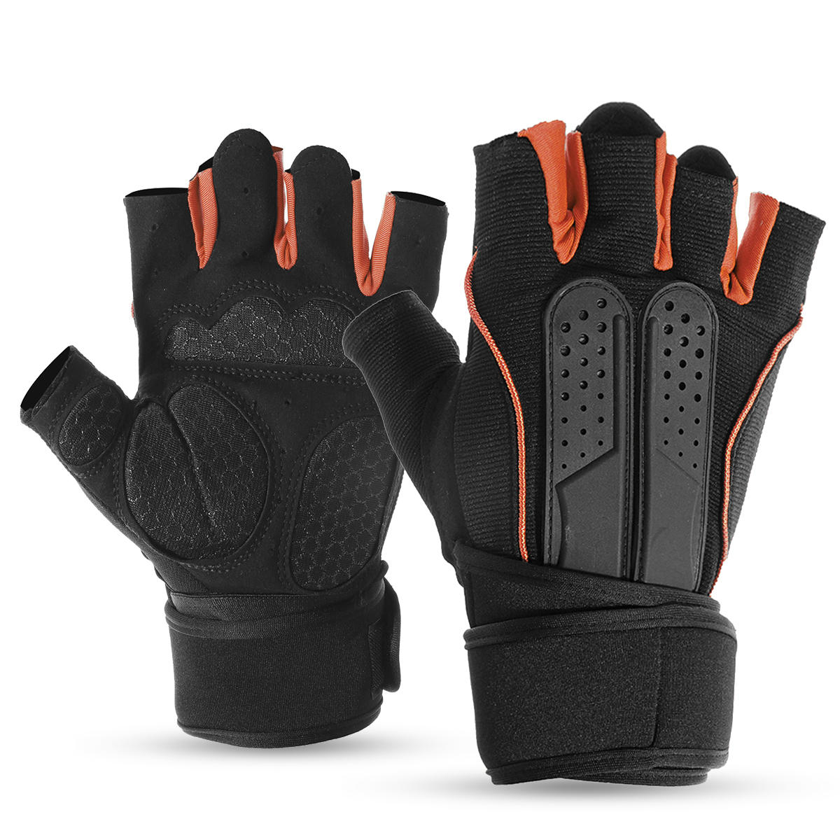 Office & School Supplies Half Finger Fitness Gloves Weight Training Wristband Fitness Gloves Ladies Mens Gym Palm Protector Fitness Gloves