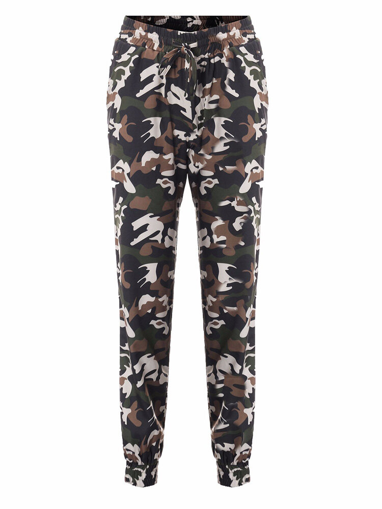 Casual Women Military Sports Outdoor Skinny Camouflage Calças