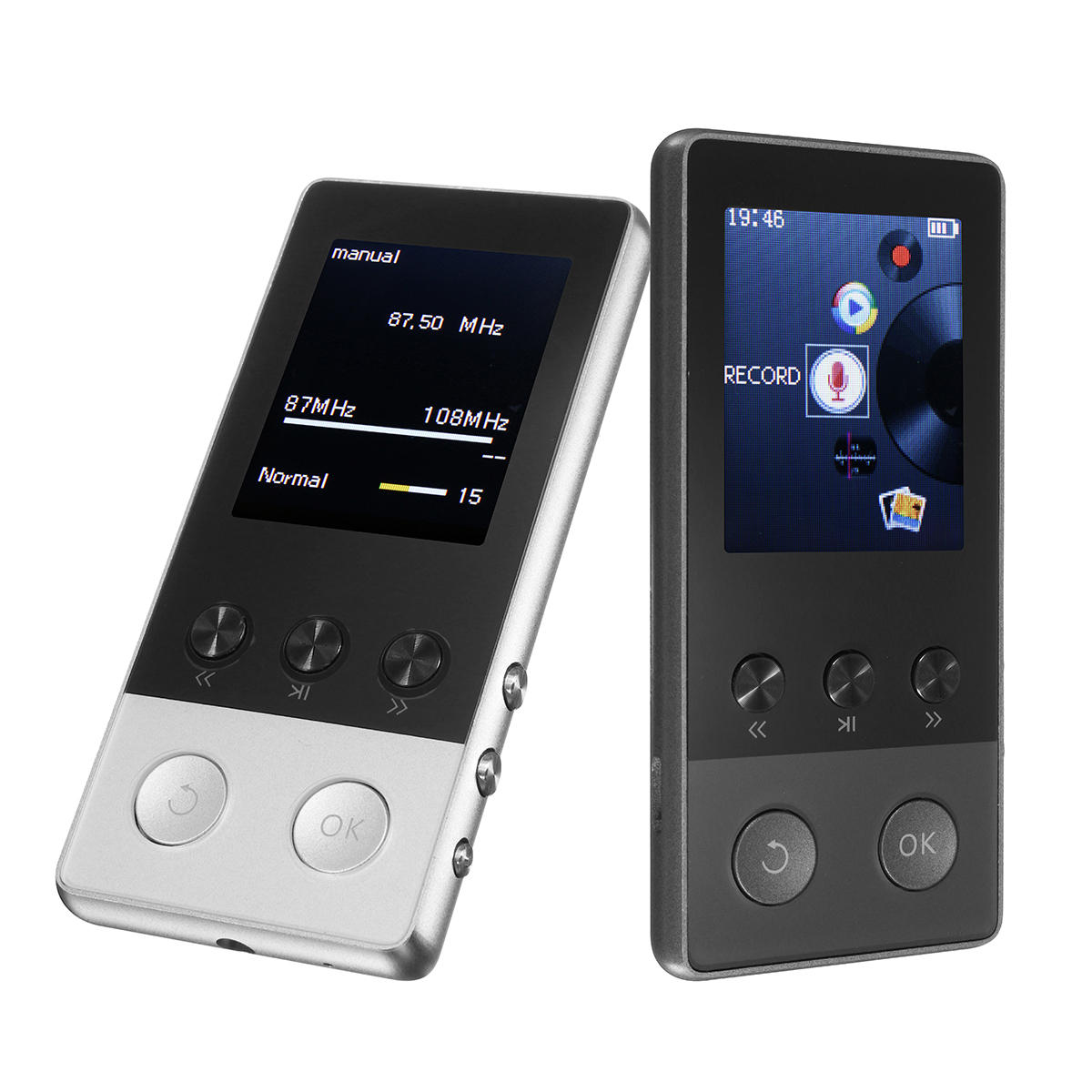 c4ffe7e0f A5 Plus 1.8 Inch 8GB 250 Hours Portable MP3 Lossless Music Player FM TF  Pedometer Function COD