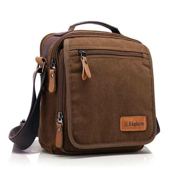 Ekphero® Многофункциональный повседневный кожаный хлопковый холст IPad Плечо Crossboby Сумка